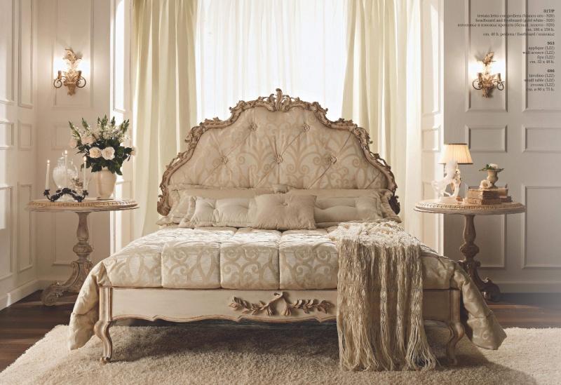 Двухспальная кровать с высоким изголовьем Notte