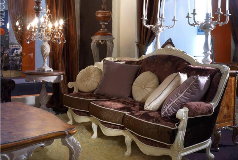Мягкий диван и журнальный столик в гостиную Fiera Milano