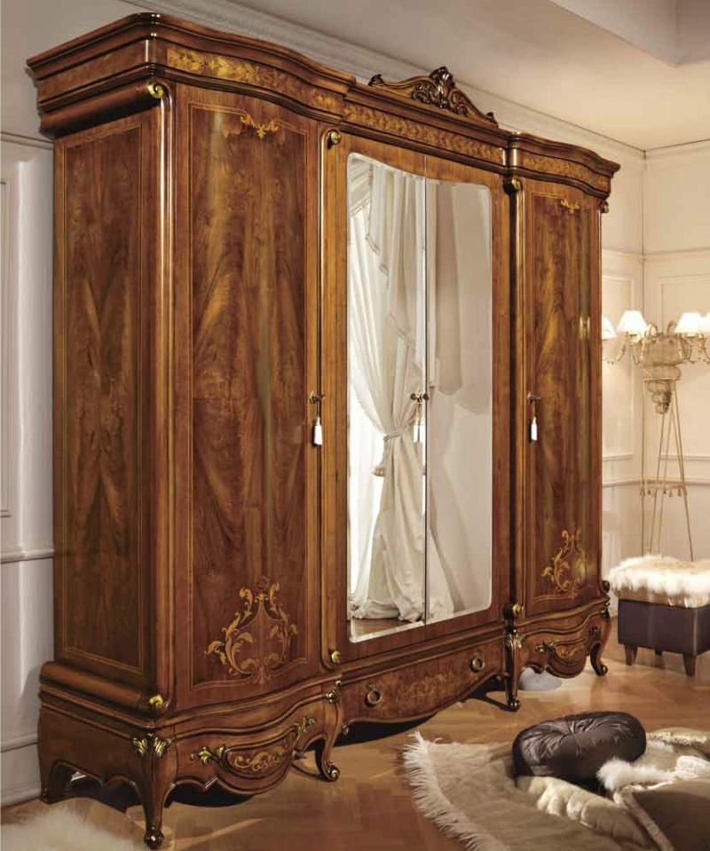 Шкаф 4-х дверный с зеркальными вставками Antonelli Moravio AM