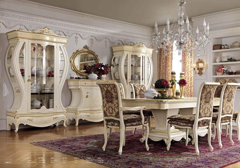 Комплект мебели для гостиной молочного цвета Antonelli Moravio AM