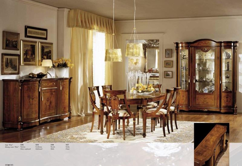 Классическая столовая цвета натурального дерева Antonelli Moravio AM