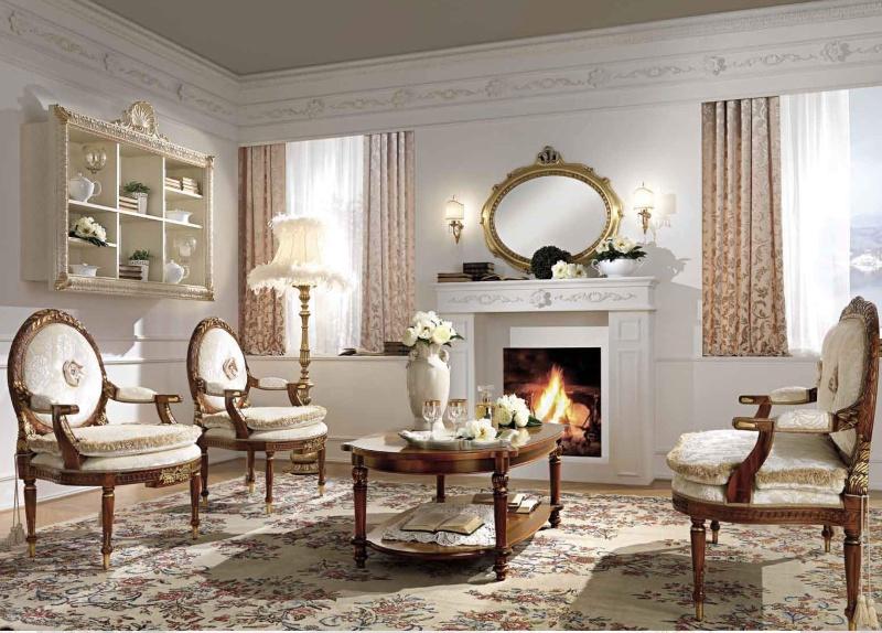 Роскошная мебель в гостиную с ручной резьбой и орнаментом Antonelli Moravio AM