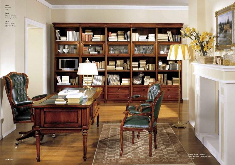 Кабинет в классическом стиле - цвета натурального дерева Antonelli Moravio AM