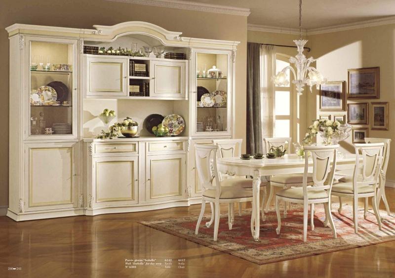 Белоснежная мебель в столовую классического стиля Antonelli Moravio AM