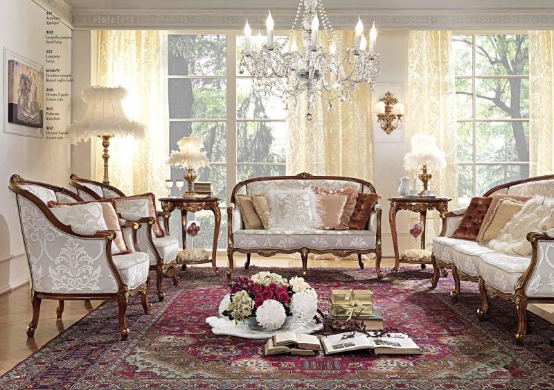 Мягкая мебель в гостиную в белом цвете с гюбеленом Antonelli Moravio AM