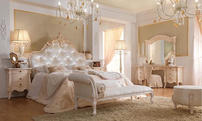 Шикарная спальня - цвет белый - Италия -Prestige Barnini Oseo