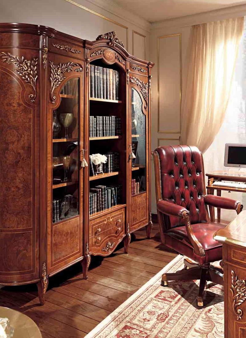Книжный шкаф классического стиля Reggenza