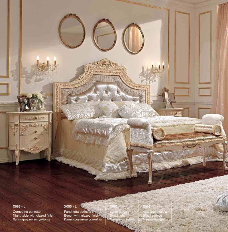 Спальный гарнитур с патиной - цвет слоновая кость Reggenza