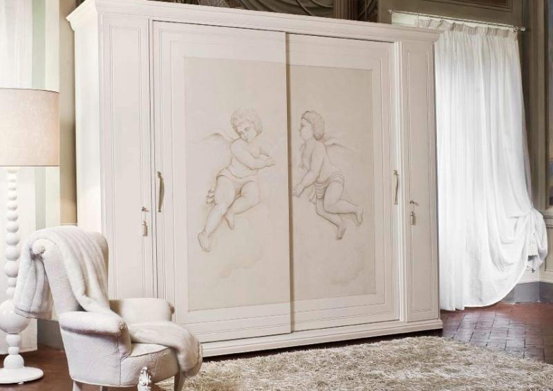 Шкаф с росписью амуры - Sogni d Amore