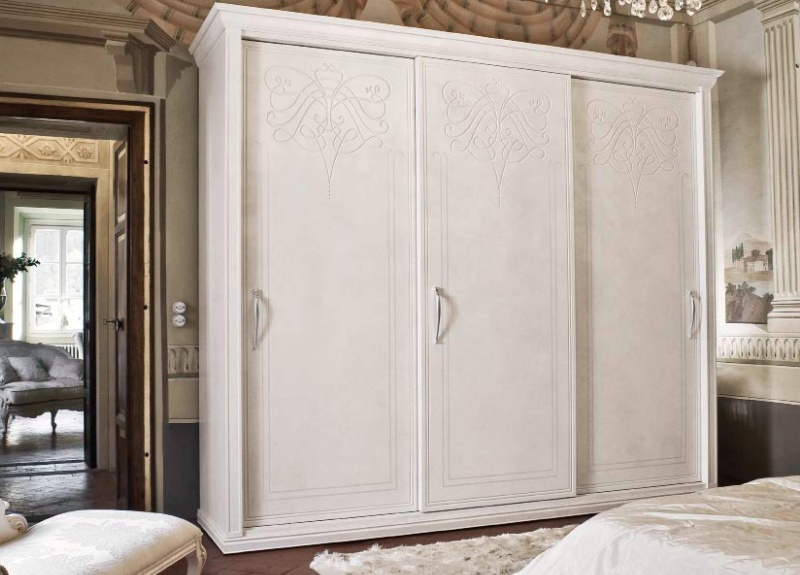 Шкаф купе в стиле артдеко - цвет белый - Sogni d Amore