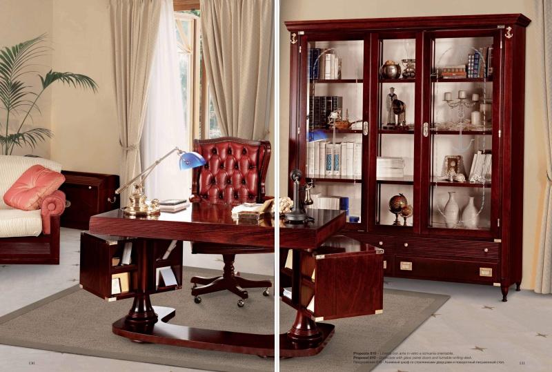 Классический - домашний кабинет из красного дерева Vecchia Marina Caroti
