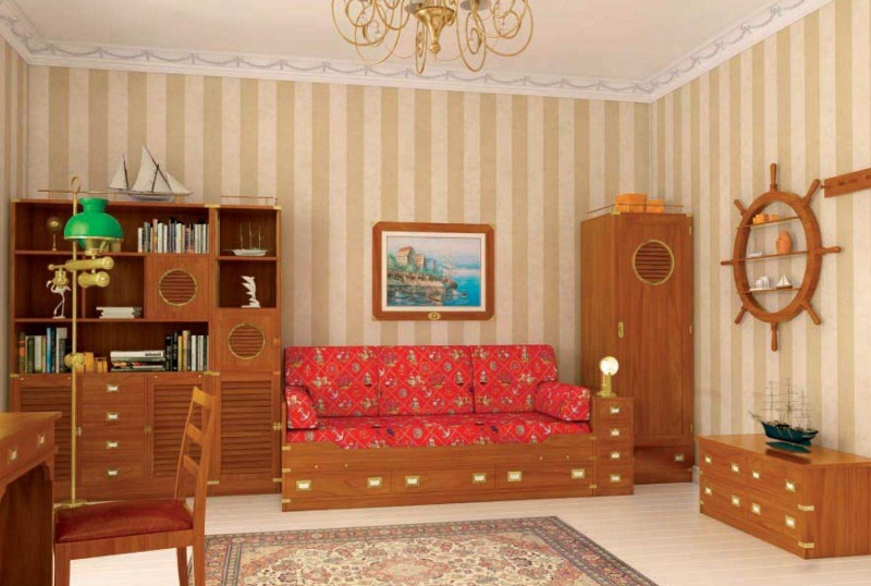 Набор мебели в детскую комнату в яхтенном стилеVecchia Marina Caroti