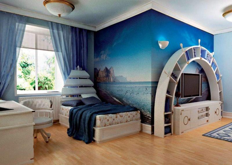 Гарнитур в детскую комнату в морском стиле Vecchia Marina Caroti