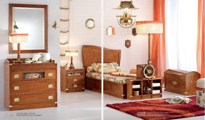 Детская комната из натурального дерева Vecchia Marina Caroti