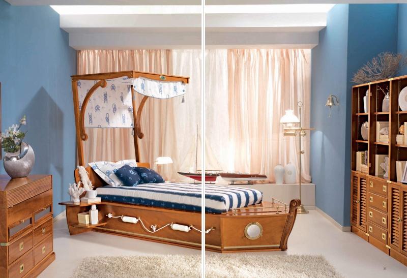 Детская кровать в виде корабля Vecchia Marina Caroti