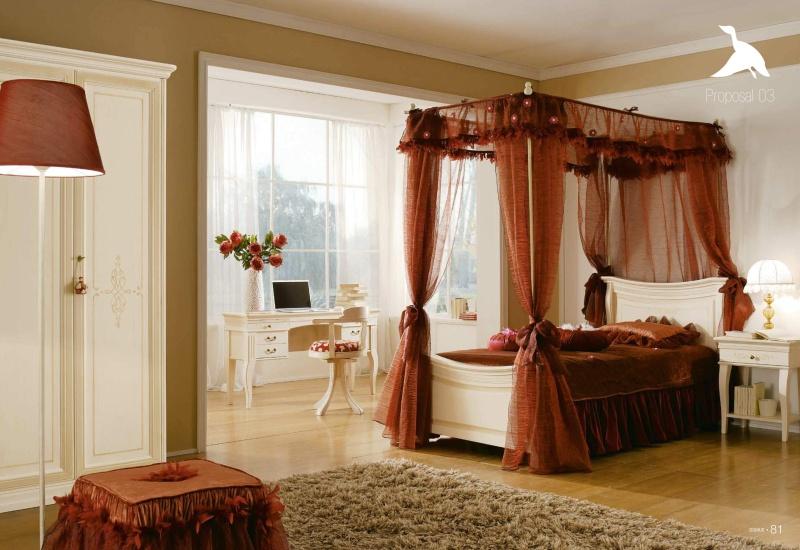Детская кровать с балдахином - классика Il Componibile