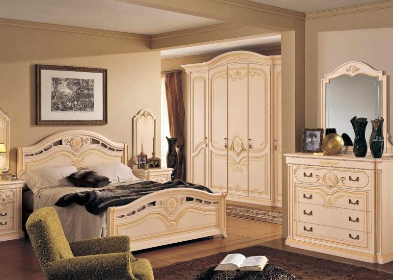 Гарнитур для спальной комнаты цвета - слоновая кость Anta Scorrevole