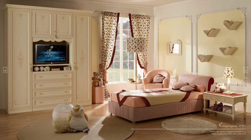 Розовая детская мебель Италия - Happy Night