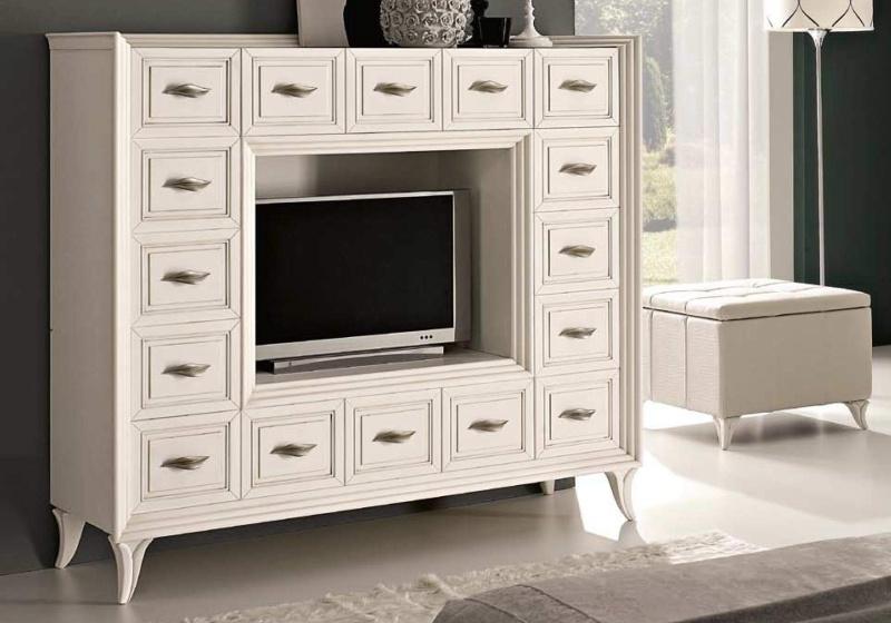Патинированая стенкв для ТВ с выдвижными ящиками Тоday Ferretti