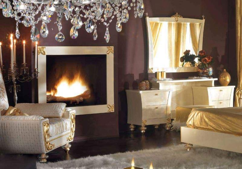 Набор мебели для спальной комнаты стиль - арт - деко Blue Diamond Lanpas