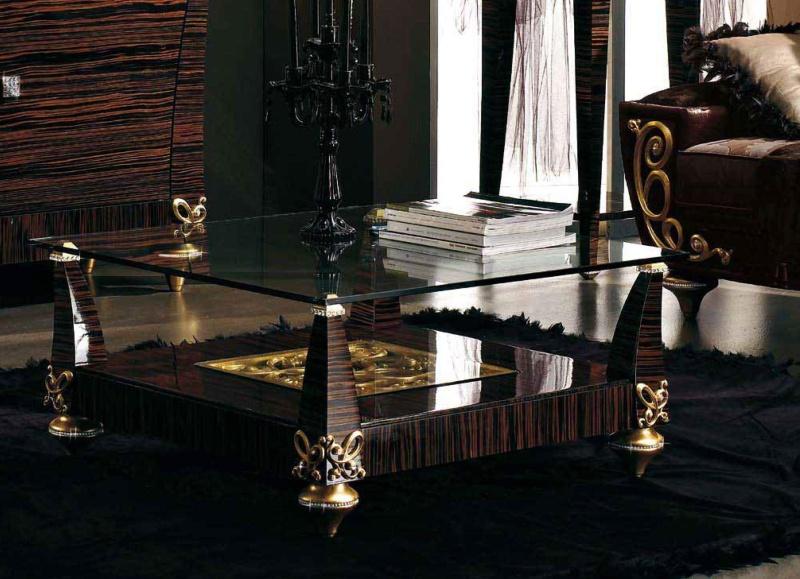 Журнальный столик со стекляной столешницей Blue Diamond Lanpas