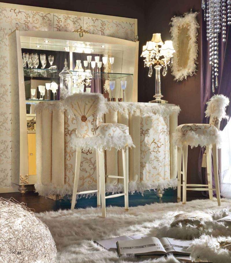 Барная стойка с высокими стульями - слоновая кость Blue Diamond Lanpas