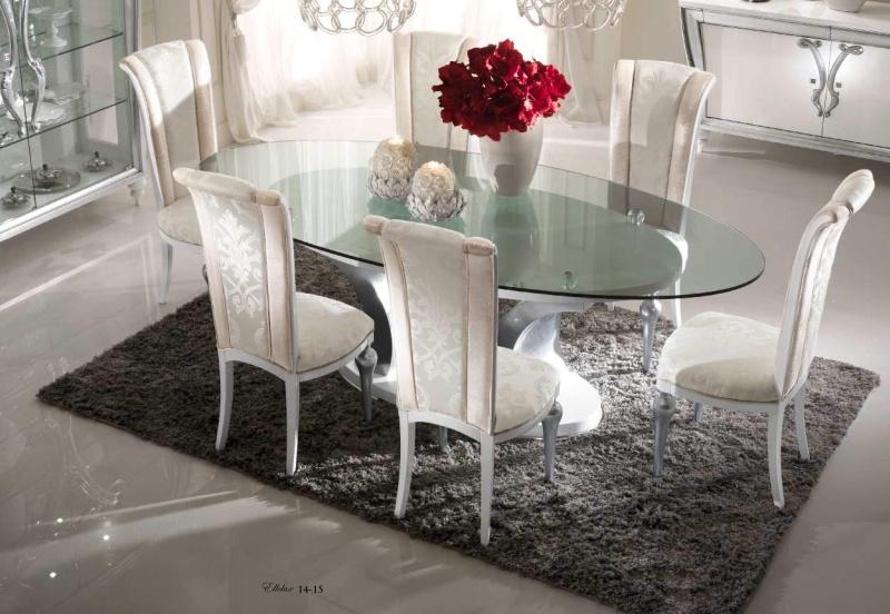 Овальный столик со стульями в столовую Ellelux