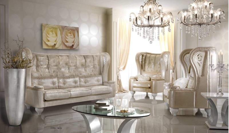 Комплект мягкой мебели в гостиную - обивка беж Ellelux