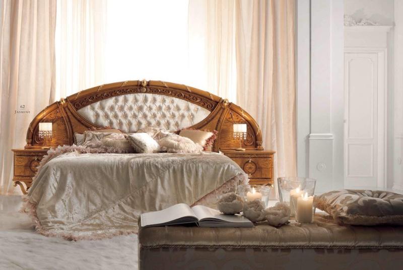 Двухспальная кровать с большым изголовьем - кинг сайз Jasmine Valderamobili
