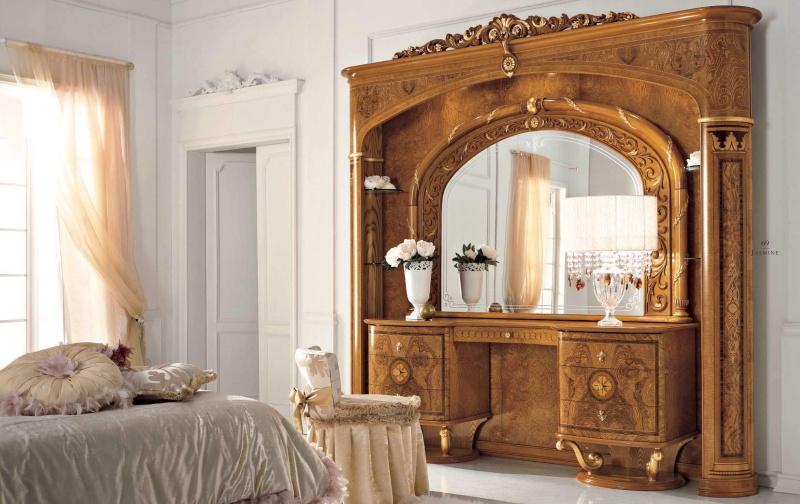 Туалетный столик с задней стенкой буазери - Италия Jasmine Valderamobili