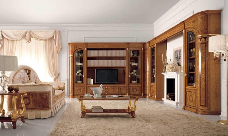 Гостиная мебель цвета натурального дерева - Италия Jasmine Valderamobili