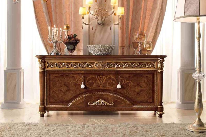 Комод - цвета орех с контурным резным декором LUIGI XVI Valderamobili