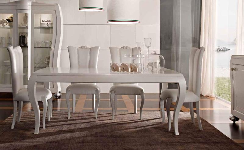 Обеденный стол арт-деко - цвет белый Primavera Valderamobili