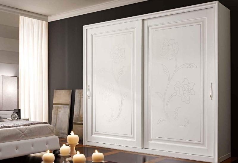 Шкаф-купе с двумя дверцами - цвет белый Primavera Valderamobili