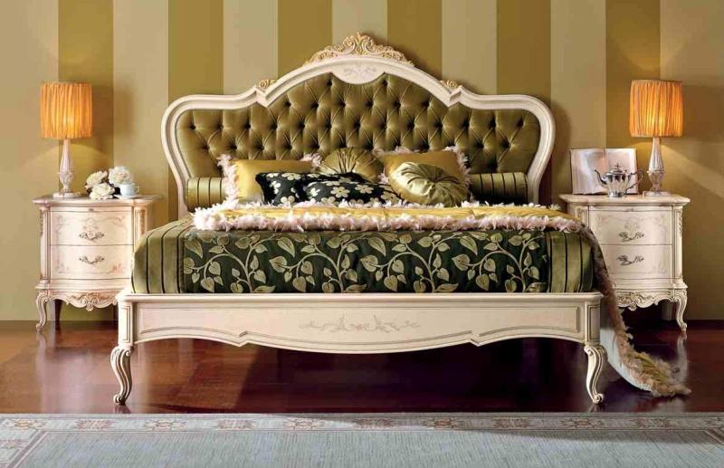 Двухспальная кровать с прикроватными тумбочками Principe