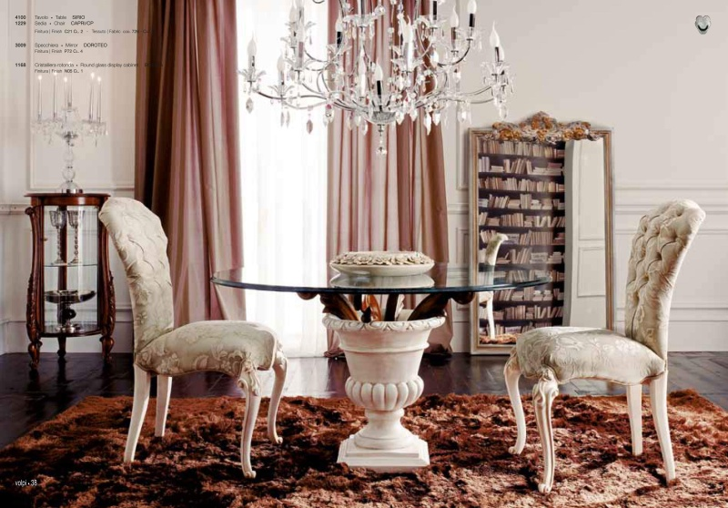 Круглый стеклянный столик - Италия Day