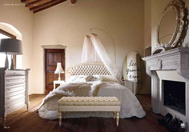Белая кровать капитоне Paolina