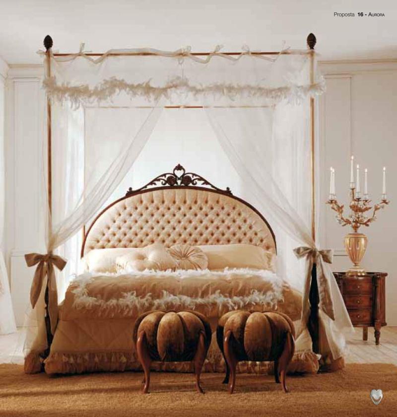 Кровать в спальню с балдахином - модель Aurora