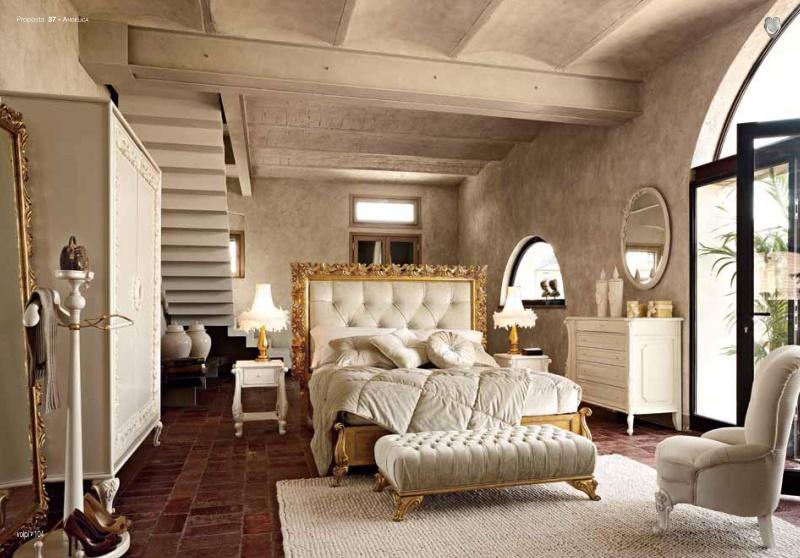 Гарнитур в спальню - цвет белый с золотом Andelica