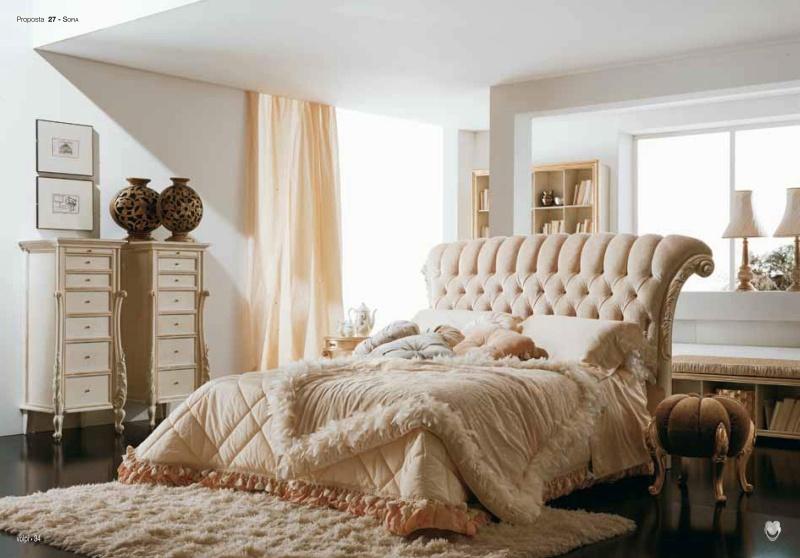 Двухспальная кровать с высоким закрученым изголовьем Night 2011