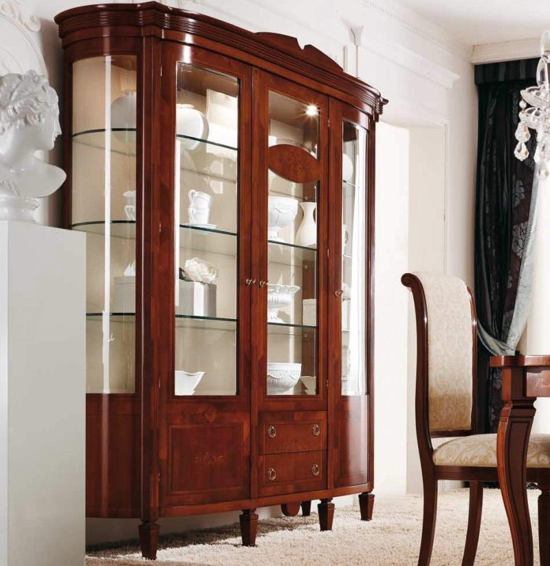 Итальянский классический витрина из массива The Book