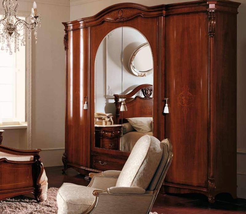 4-х дверный гардеробный шкаф - цвет орех The Book