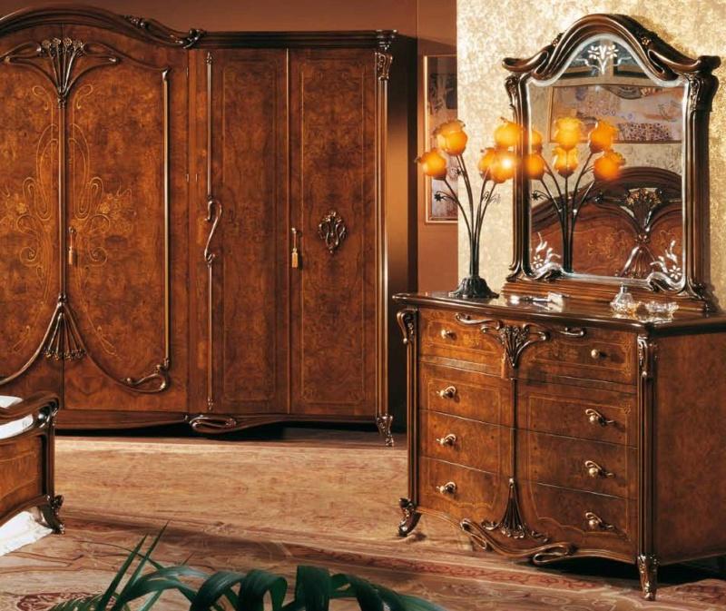 Набор мебели для спальной комнаты в ореховом цвете The Book