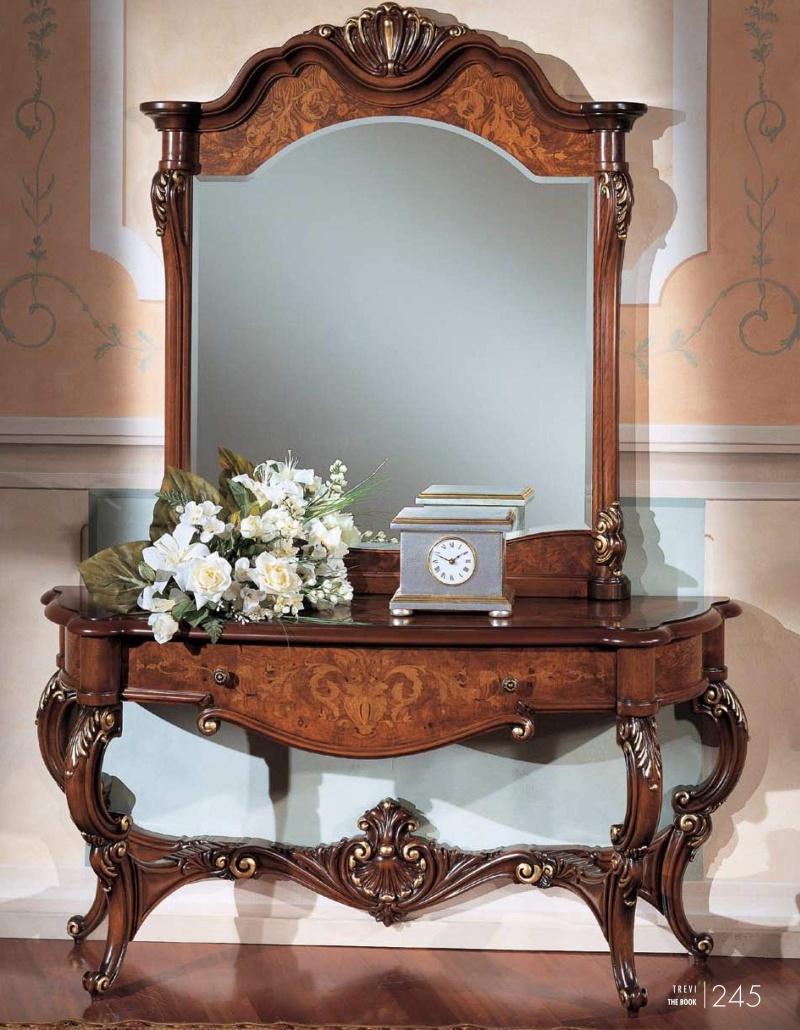 Консольный столикс зеркалом и резьбой ручной работы The Book