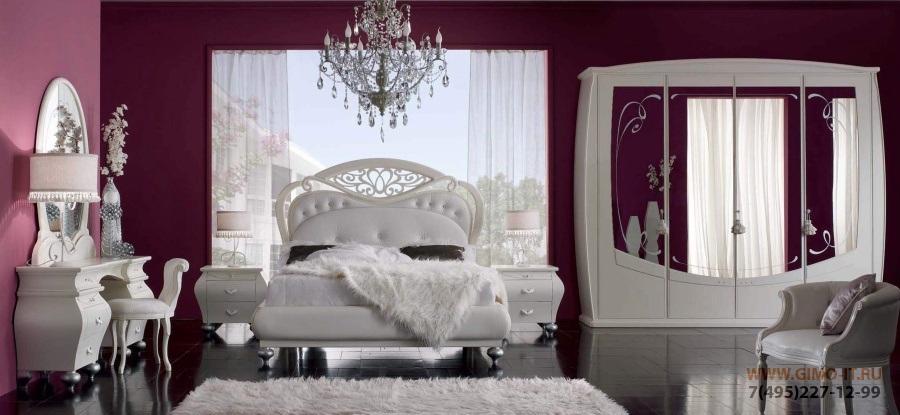 Мебель для спальни - цвет белый - AGM Eva