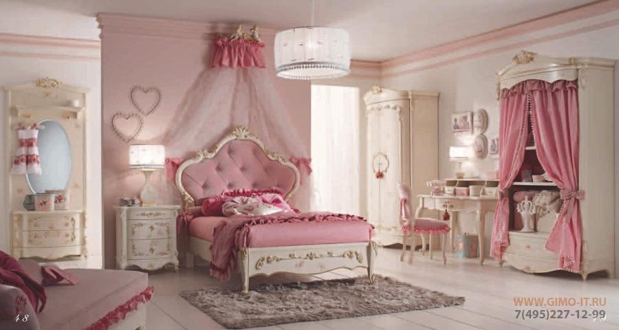 Мебель для детской - цвет розовый AGM Venezia