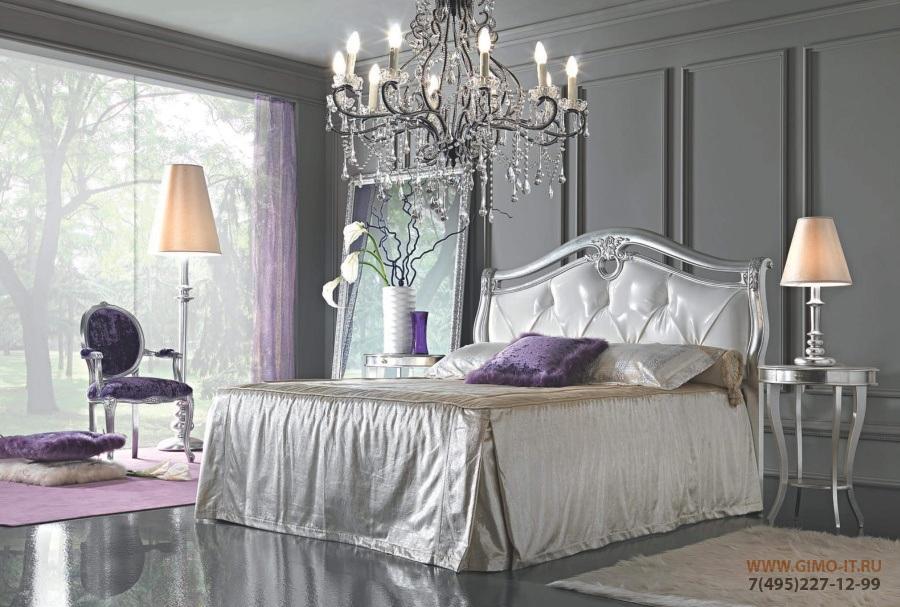 Кровать - отделка сусальное серебро Antonelli Moravio Belvedere