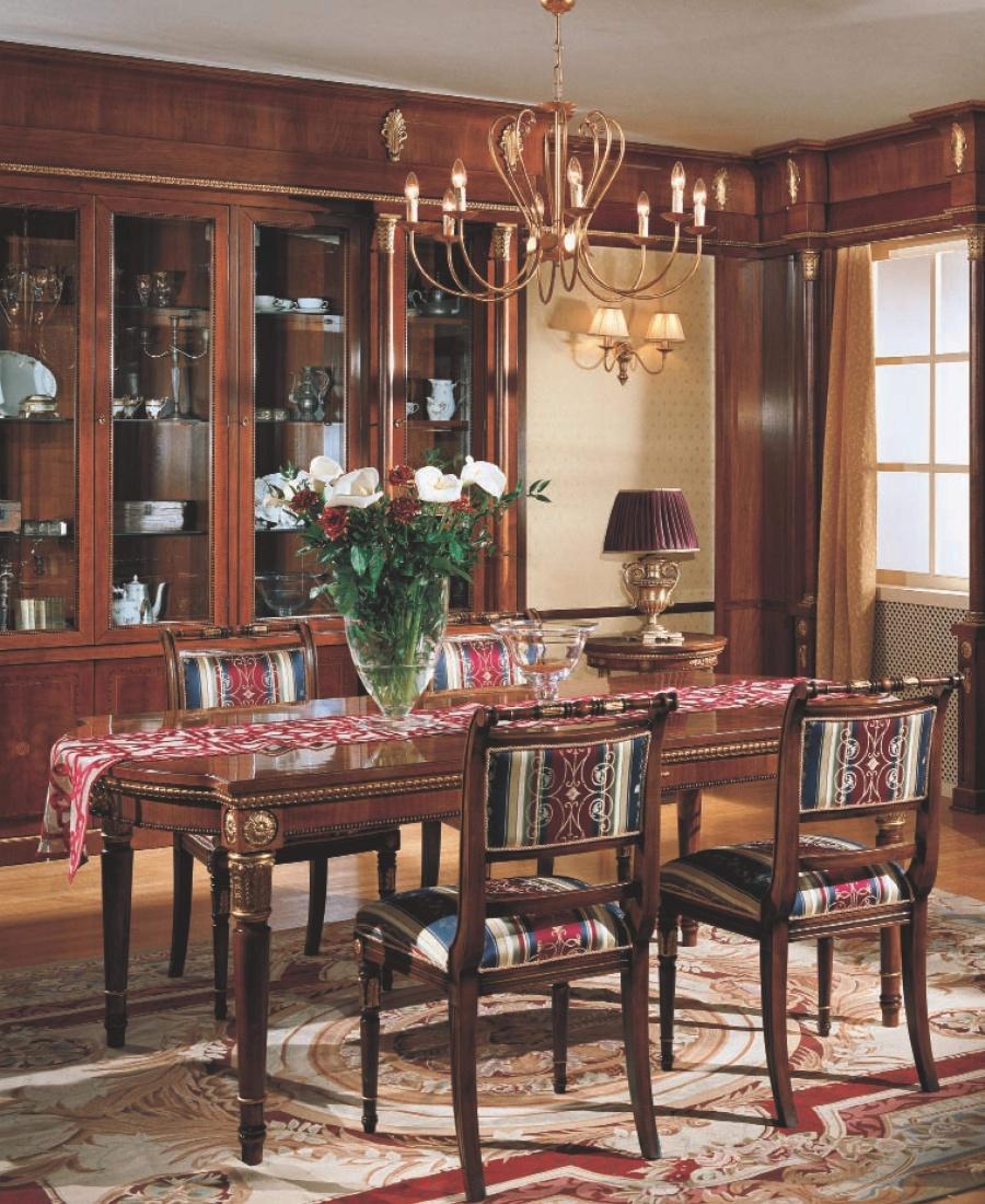 Стол со стульями в классическом стиле Grilli Roma