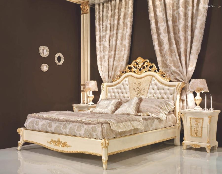 Кровать с гравировкой на изголовье Signorini Coco La Medicea