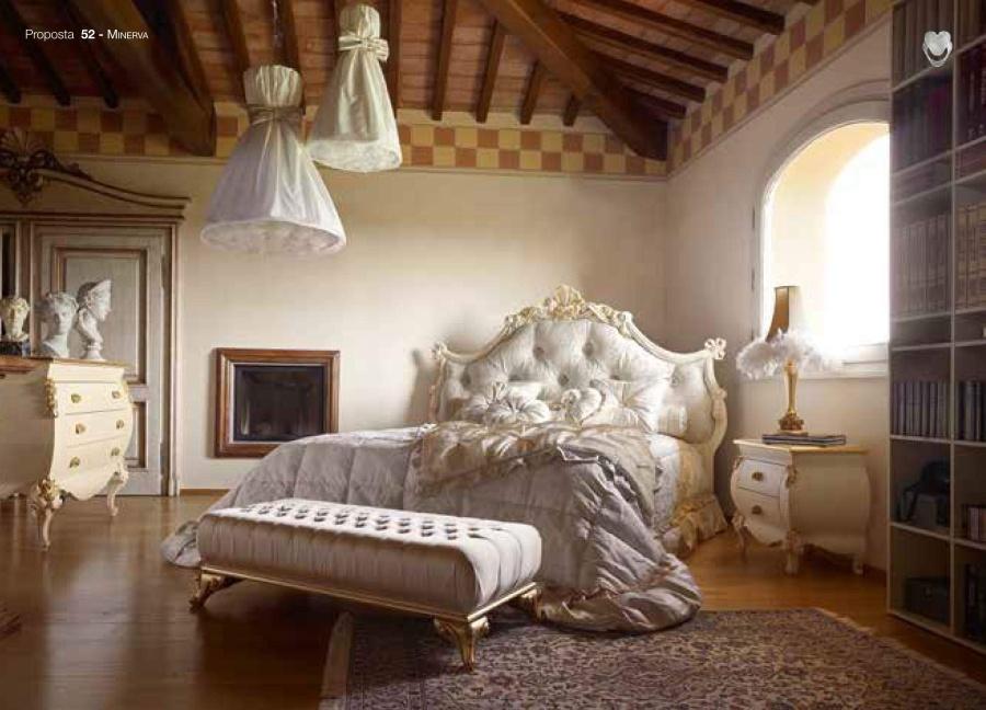 Кровать с резным изголовьем Volpi Minerva
